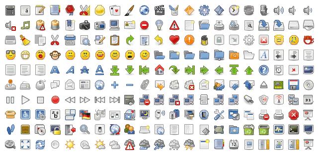 Sprite complejo que incluye 210 iconos en una sola imagen