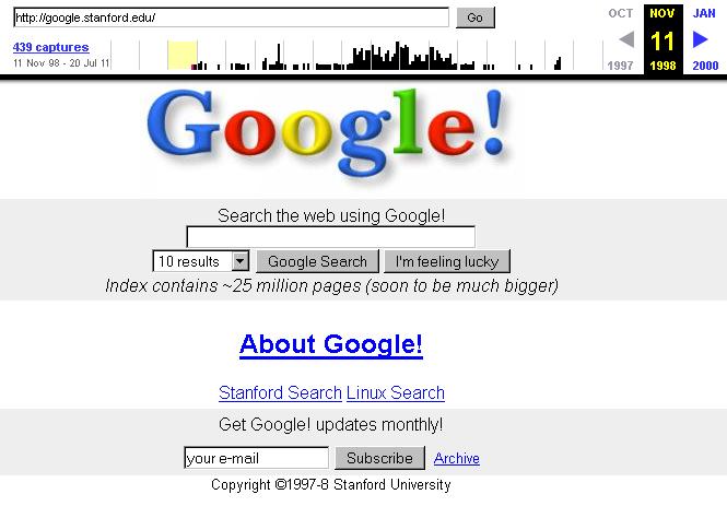 google-como-era-en-1998