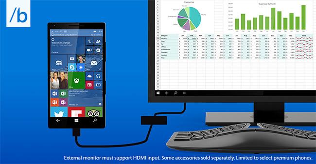 Microsoft promete que con Windows 10 podrás conectar tu móvil a cualquier pantalla y tener un ordenador completo