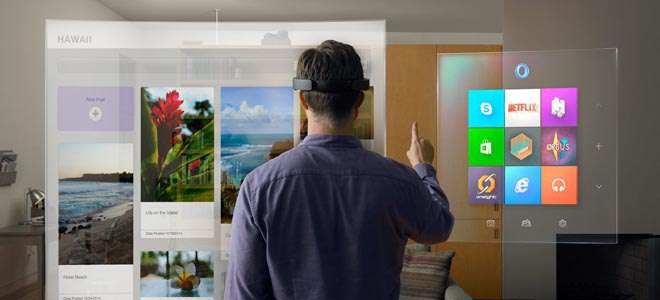 MCX10. REDMOND (EE.UU.), 21/01/2015.- Fotografía cedida por Microsoft hoy, miércoles 21 de enero de 2015, que muestra la primera plataforma holográfica durante una rueda de prensa en Redmond, Washington (EEUU). En una conferencia en la sede de la compañía en Redmond (estado de Washington, EE.UU.), el vicepresidente de sistemas operativos de Microsoft, Terry Myerson, indicó que durante el primer año a partir de su salida al mercado -prevista para 2015-, Windows 10 estará disponible sin ningún coste para todos los usuarios de Windows 7, 8.1 y Phone 8.1. EFE/MICROSOFT/ SOLO USO EDITORIAL/NO VENTAS