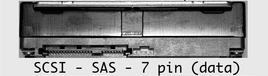 scsi sas 7 pin data