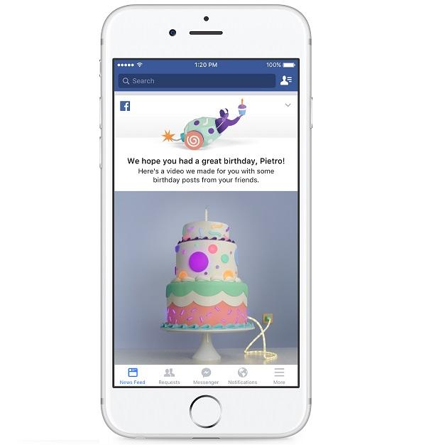 Facebook lanza los  vídeos de cumpleaños